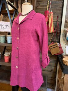 Toofan, plum colored tunic