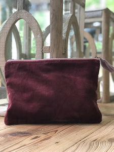 Velvet Cosmetic Bag (multiple colors available)