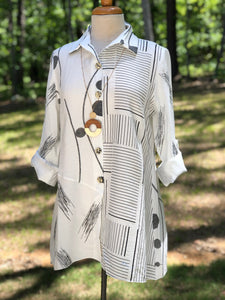Toofan Black and White Tunic