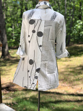 Load image into Gallery viewer, Toofan Black and White Tunic
