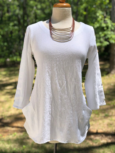Toofan 2-Pocket Tunic in White