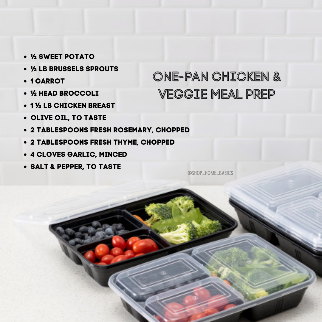 LOW CALORIE: One-pan Chicken & Veggie Meal Prep