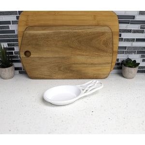 Iris Cast Iron Spoon Rest, White