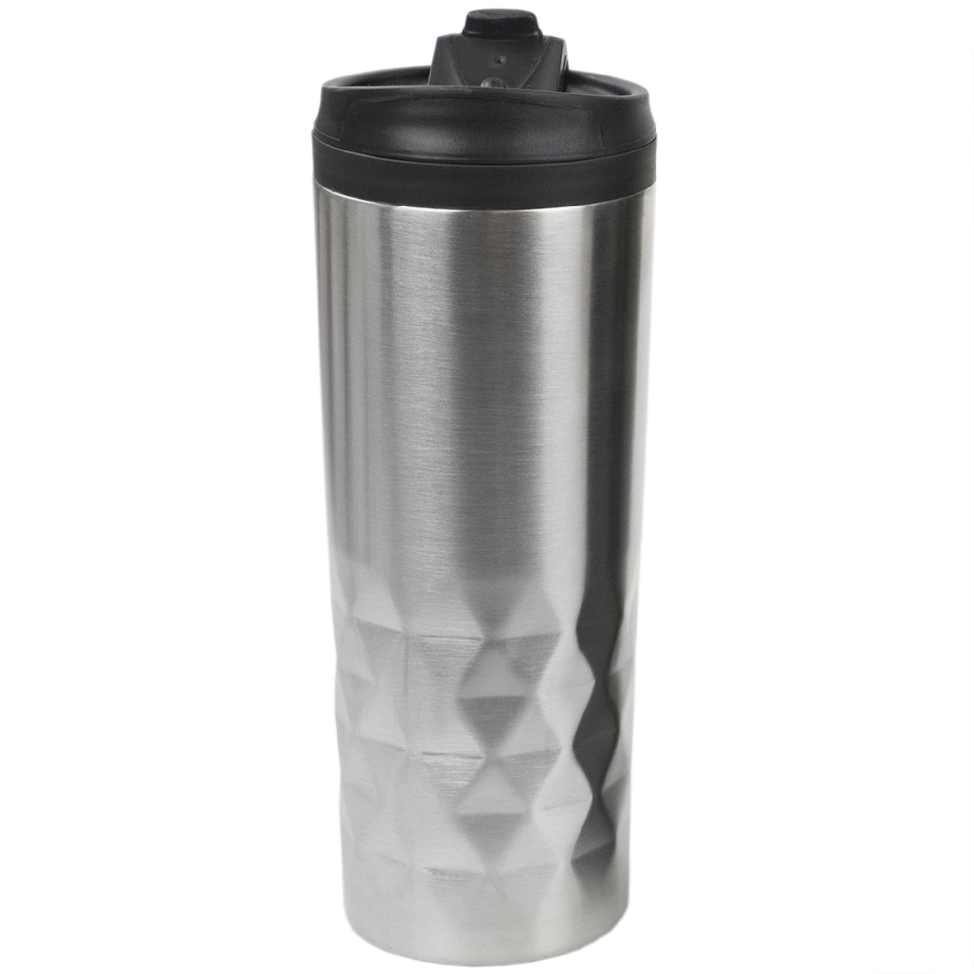 Home Basics Prism Stainless Steel 18 oz. Travel Mug, Silver - Silver