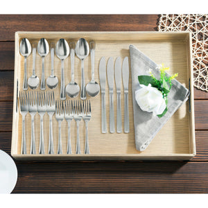 Grand 20 Piece Stainless Steel Flatware Set, Silver