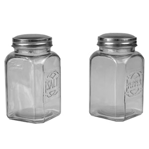 Bistro 3.8 oz. Tabletop Glass Salt and Pepper Shakers, (Set of 2), Clear