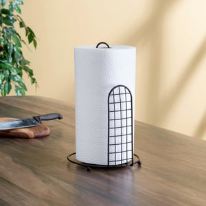 Grid Collection Free Standing Paper Towel Holder, Black