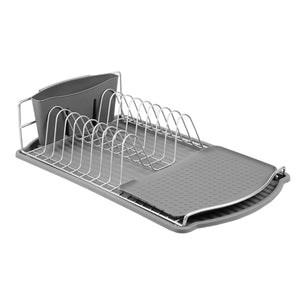 Michael Graves Design Satin Finish Steel Wire Compact Dish Rack, Black