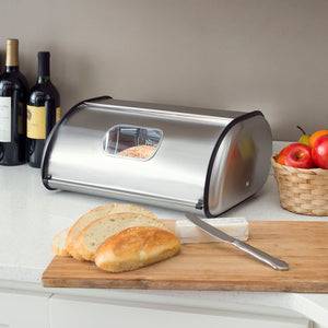 Stainless Steel Bread Box, Silver