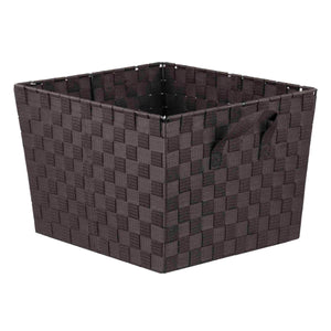 X-Large Polyester Woven Strap Open Bin, Brown
