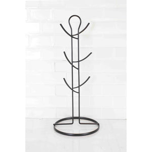 Wire Collection 6 Hook Mug Tree, Black