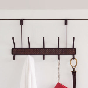 Over the Door 5 Hook Hanging Rack, Bronze