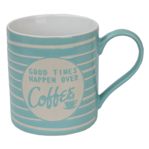 It's Coffee Time 6 Piece Mug Set with Stand, Multi-Color
