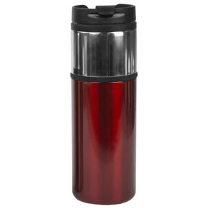 Home Basics Two Tone Stainless Steel 16 oz. Travel Mug, Red - Red