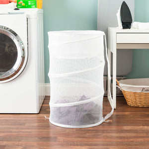 Sunbeam Mesh Barrel Laundry Hamper