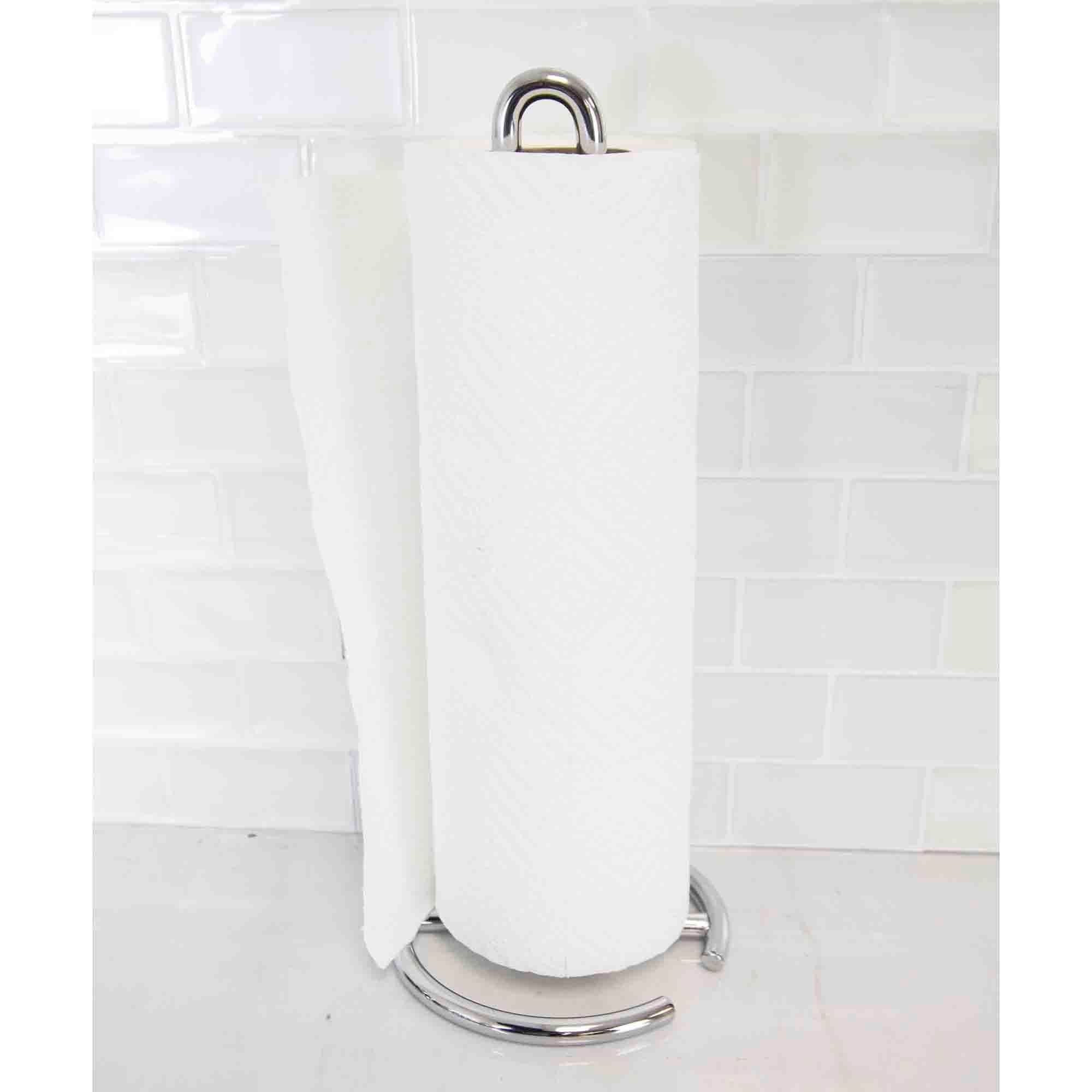 Simplicity Collection Free-Standing Paper Towel Holder, Chrome