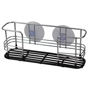 Vinyl Dipped Steel Sponge Holder with Suction Cups, Black