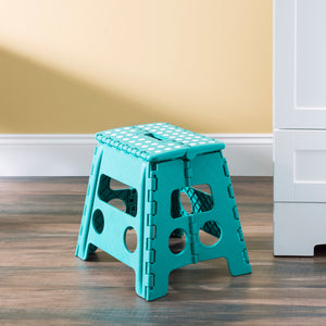 Large Plastic Folding Stool with Non-Slip Dots