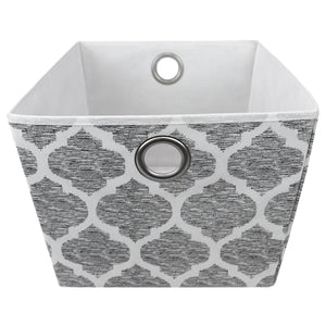 Arabesque Large Non-Woven Open Storage Tote, Grey