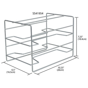 Vinyl Coated Steel Standing Wrap Organizer, Silver