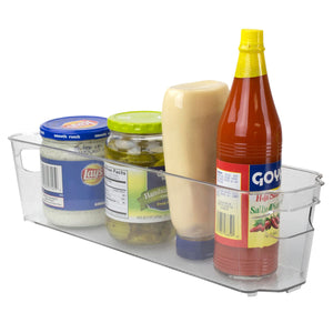 Small Plastic Fridge Bin with Handle, Clear
