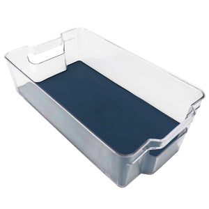 "Michael Graves Design 14.75"" x 8.25"" Fridge Bin with Indigo Rubber Lining"