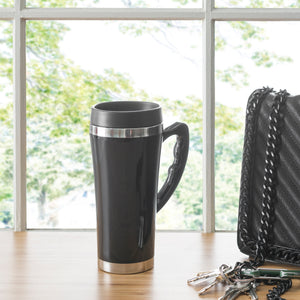 Home Basics Stainless Steel Travel Mug with Handle