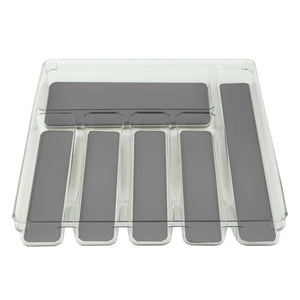 "12"" x 15"" Plastic Drawer Organizer with Rubber Liner"