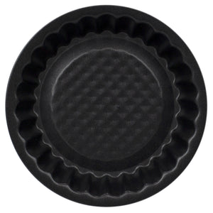 Home Basics Non-Stick Quick Release Steel Mini Bakeware Pan, Tart - Black