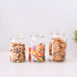 3 Piece Canister Set with Lid