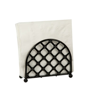 Lattice Collection Free-Standing Napkin Holder, Black