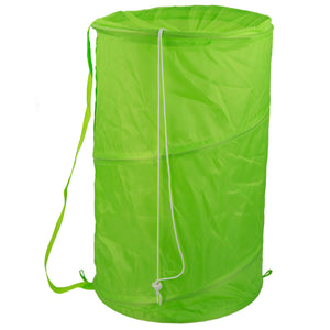 Sunbeam Mesh Barrel Laundry Hamper, Green - Green