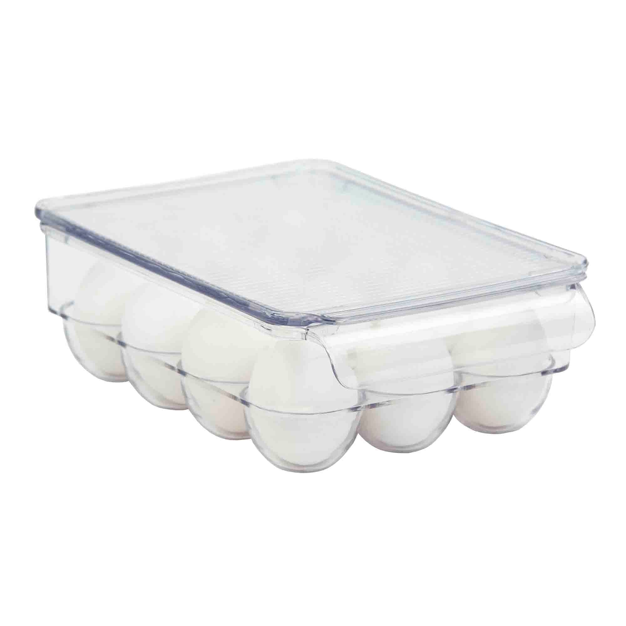 Plastic Fridge Bin 12 -Egg Holder, Clear
