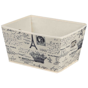 Paris Collection Large Non-Woven  Storage Bin, Natural