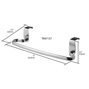 "Chrome Plated Steel 9"" Over the Cabinet Towel Bar"