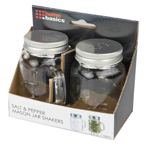 2 Piece Salt and Pepper Mason Jar Set