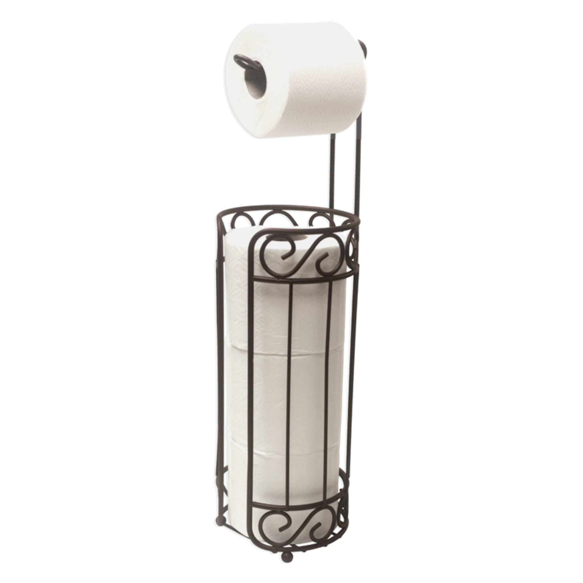 Scroll Collection Freestanding Dispensing Toilet Paper Holder, Bronze