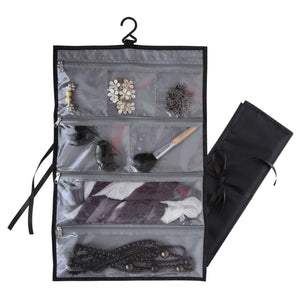 Travel Hanging Accessory Organizer, Black