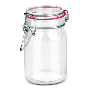 Home Basics Mini Glass Canister - Pink
