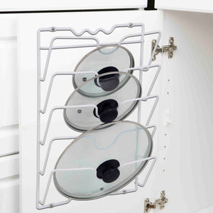 Wall or Cabinet Mount Lid Rack