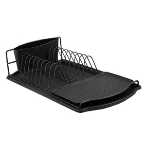 Michael Graves Design Black Finish Steel Wire Compact Dish Rack, Black
