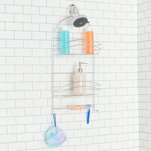 Crescent Shower Caddy, Chrome