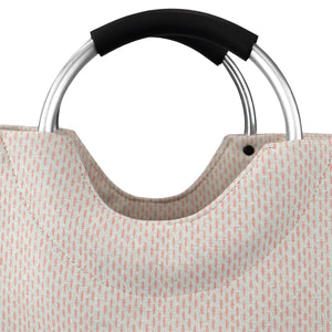 Deluxe Service Wash Dry Fold Canvas Laundry Tote with Soft Grip Padded Aluminum Handles, Pink