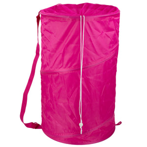 Sunbeam Mesh Barrel Laundry Hamper, Pink - Pink