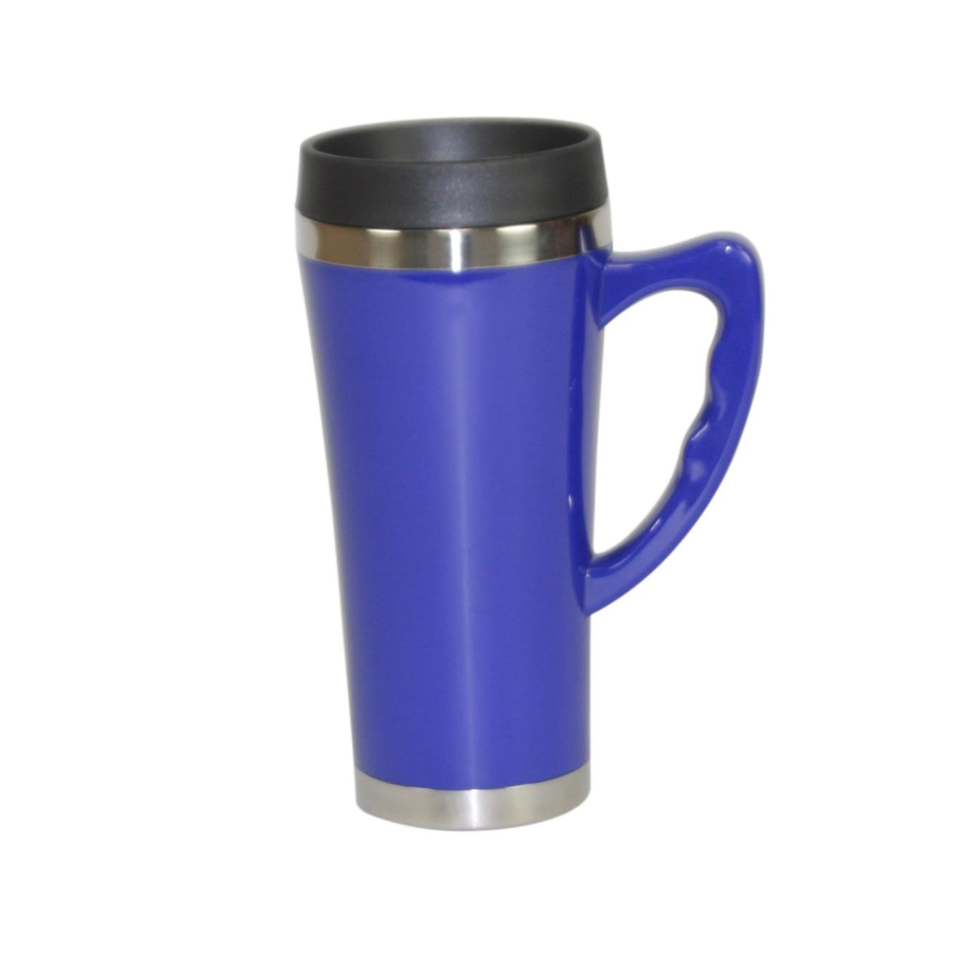 Home Basics Stainless Steel Travel Mug with Handle - Blue
