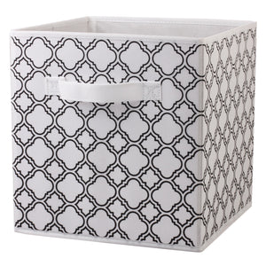 Home Basics Non-woven Storage Bin - Black Quat
