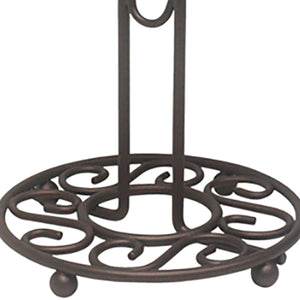 Scroll Collection Steel Mug Tree, Bronze