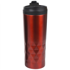 Home Basics Prism Stainless Steel 18 oz. Travel Mug, Red - Red