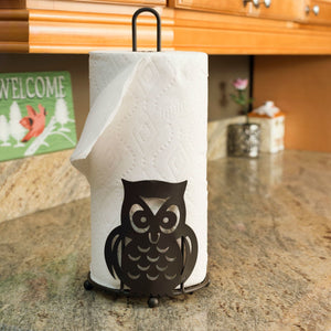 Steel Owl Paper Towel Holder, Bronze