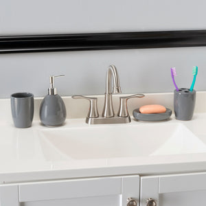 4 Piece Bath Accessory Set, Grey